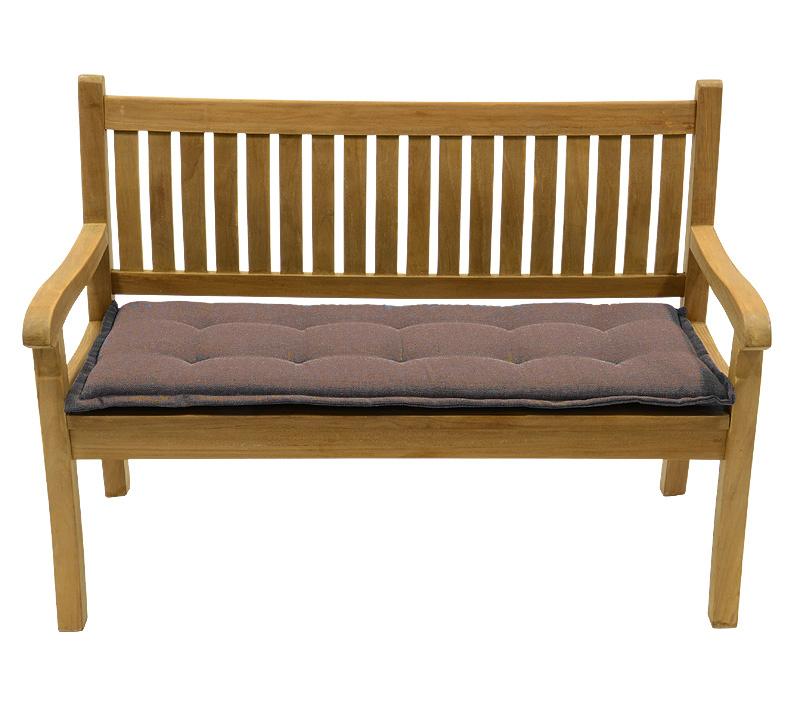 eden teak 2sitzer bank 130cm 42399 gartenbank kissen. Black Bedroom Furniture Sets. Home Design Ideas