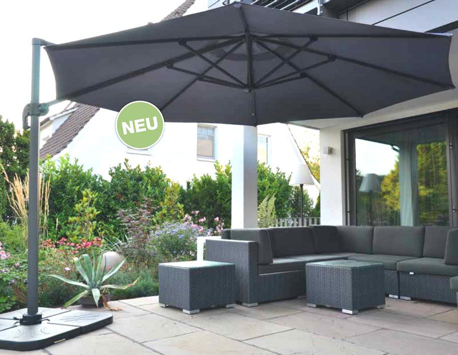 zangenberg ampelschirm monaco d3 0 sonnenschirm grau art jardin. Black Bedroom Furniture Sets. Home Design Ideas