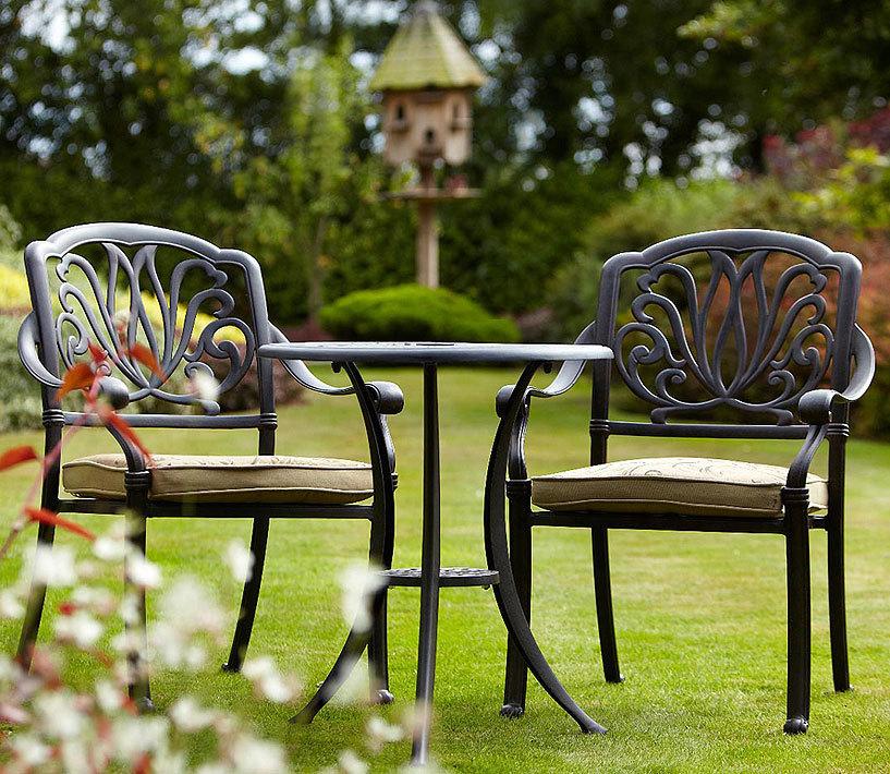 hartman bistro tisch 62cm rund amalfi bronze alu guss art jardin. Black Bedroom Furniture Sets. Home Design Ideas