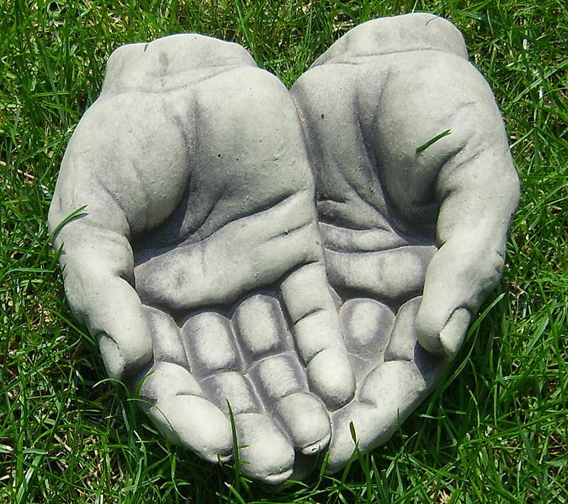 Beton zement steingu skulptur h nde offen gartendeko art - Gartendeko aus beton selbstgemacht ...