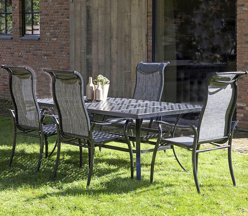 Hartman Gartenmobel Set 6 Tlg Palermo Bronze Aluguss Art Jardin