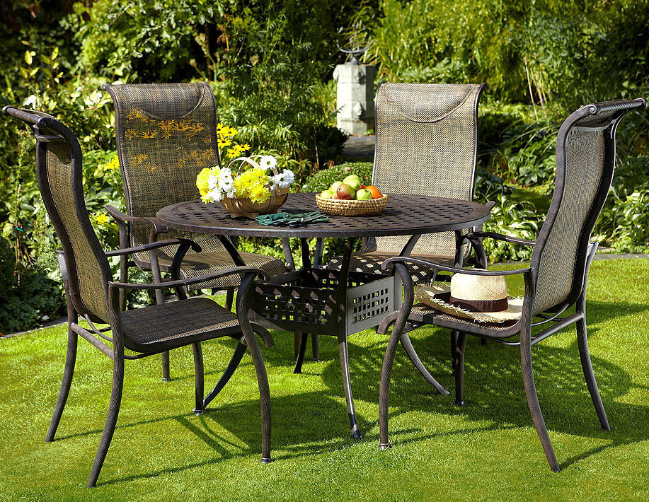 hartman gartenm bel set 6 tlg palermo bronze alugu art jardin. Black Bedroom Furniture Sets. Home Design Ideas