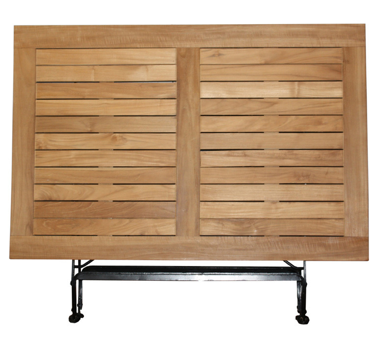 zebra tisch 120x80 florence 2419 teak eisen klappbar art jardin. Black Bedroom Furniture Sets. Home Design Ideas