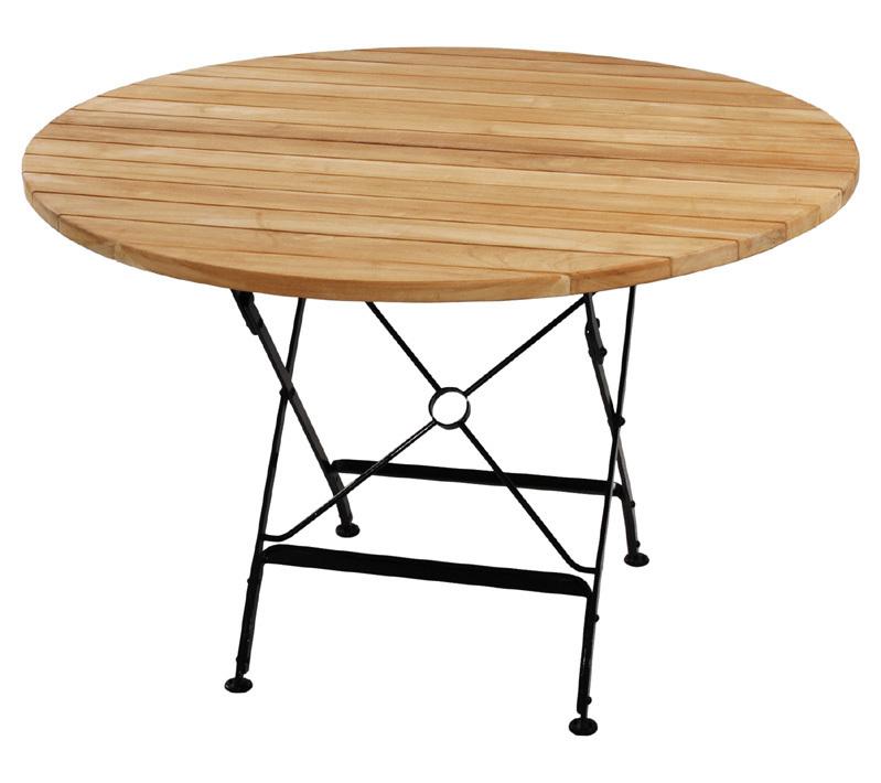 zebra tisch 115rund florence 2719 s teak eisen klappb artjardin. Black Bedroom Furniture Sets. Home Design Ideas