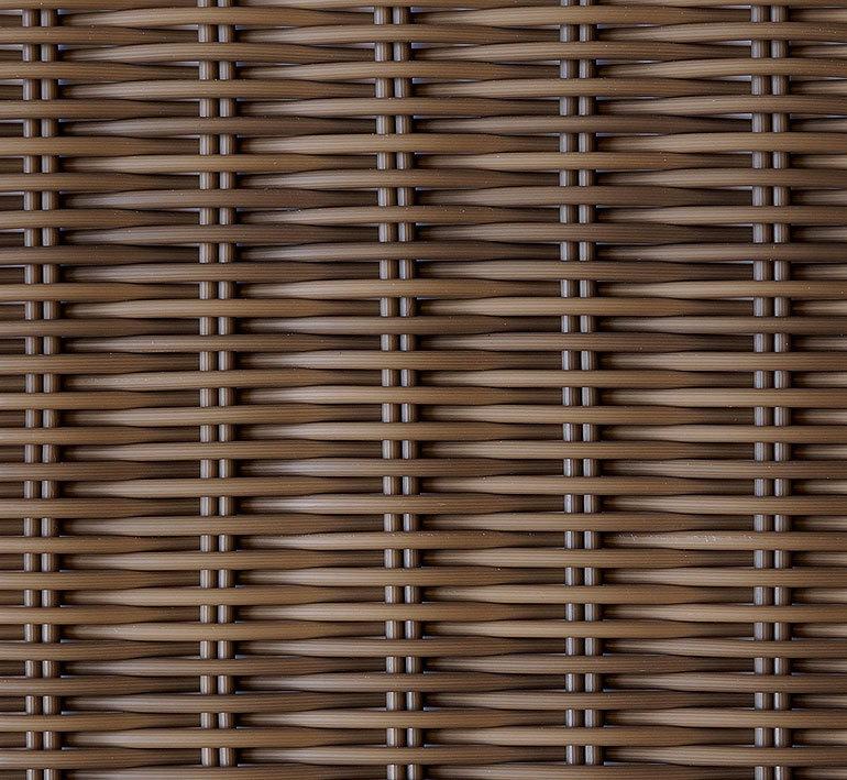 Bauhaus Gartenmobel Set Amy : Esstisch rund 100cm Loomus 23061 Alu + Teak Tisch Platte + Polyrattan