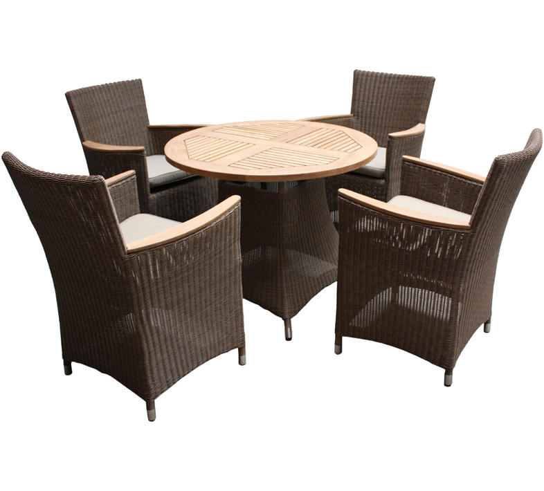 zebra tisch loomus 1m rund 2fb polyrattan gartenm bel art. Black Bedroom Furniture Sets. Home Design Ideas