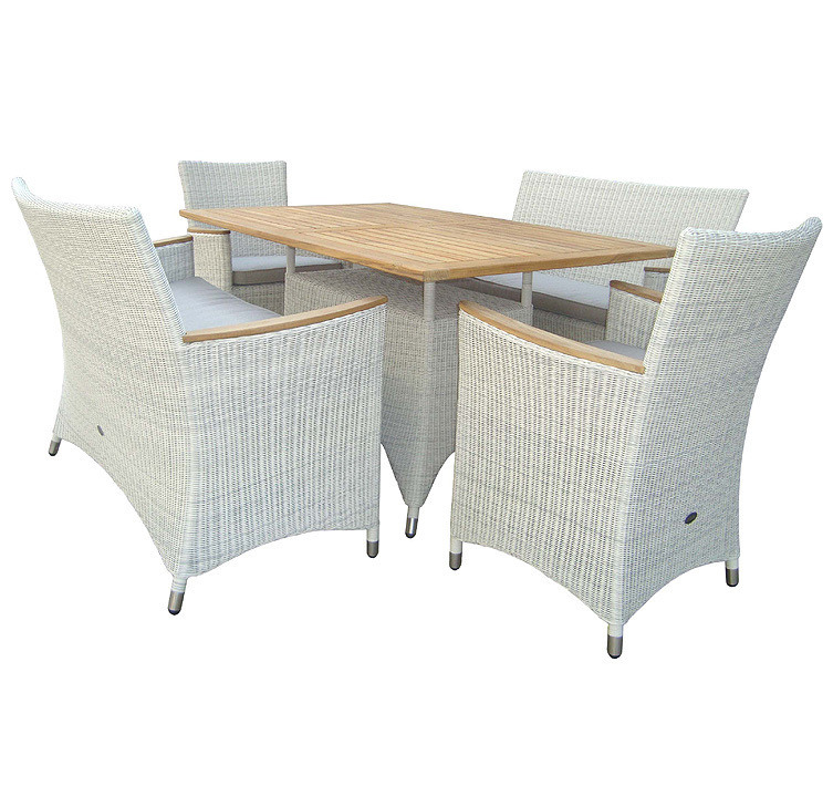 zebra tisch 140x90cm loomus 23077 alu teak tischplatte. Black Bedroom Furniture Sets. Home Design Ideas