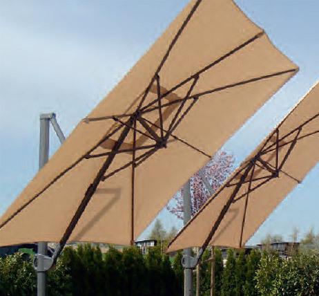 Zangenberg Ampelschirm Monaco 3x3m Sonnenschirm Beige  Ohne Platten ...
