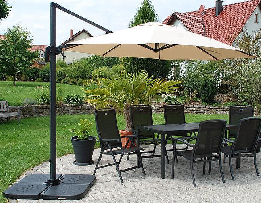 zangenberg ampelschirm monaco 3x3m sonnenschirm beige art jardin. Black Bedroom Furniture Sets. Home Design Ideas