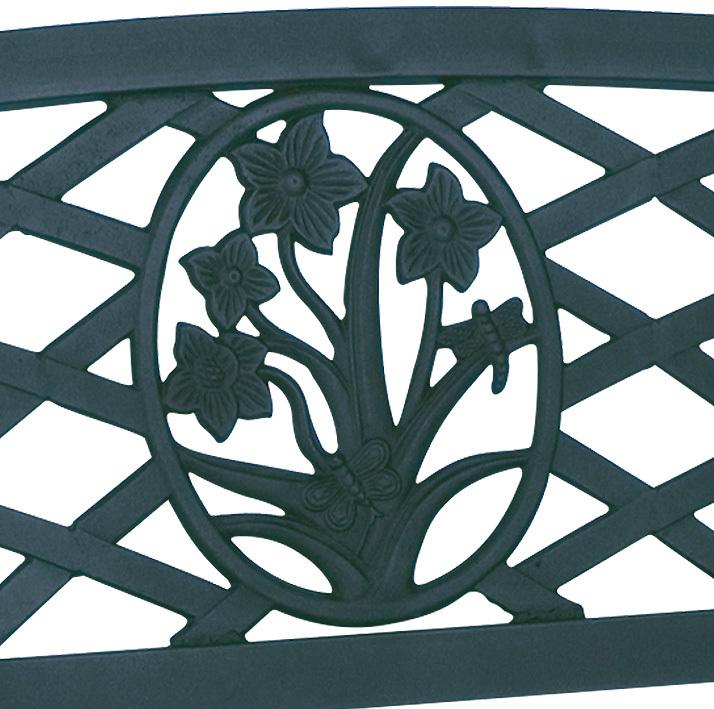 2Sitzer Bank St.James 41141 Gartenmöbel Stahl verzinkt ...