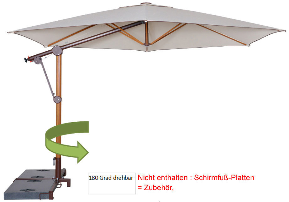 doppler pendelschirm bari timber 320 alu sonnenschirm art jardin. Black Bedroom Furniture Sets. Home Design Ideas