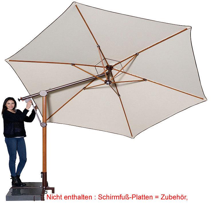 doppler pendelschirm bari timber 320 alu sonnenschirm art. Black Bedroom Furniture Sets. Home Design Ideas