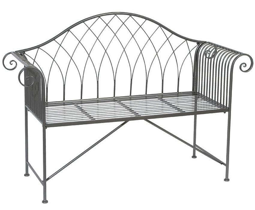 2-Sitzer Bank Pureng 168047 Gartenmöbel Stahl verzinkt- ArtJardin
