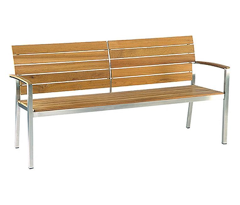stern edelstahl 2 sitzer teak bank savona 417428 teakholz. Black Bedroom Furniture Sets. Home Design Ideas