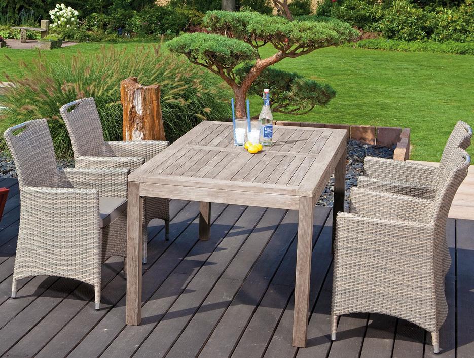 sunny smart old teak tisch 160cm wellington 80050739 art jardin. Black Bedroom Furniture Sets. Home Design Ideas