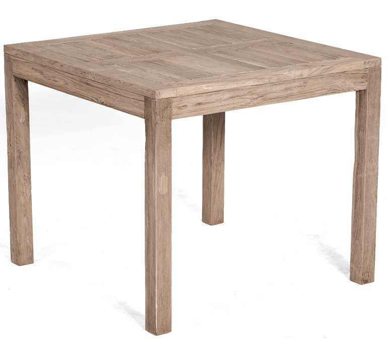 Sunny Smart Old Teak Tisch 90x90cm Wellington 80050738 Esstisch Teakholz  Gartentisch Grey Washed ...