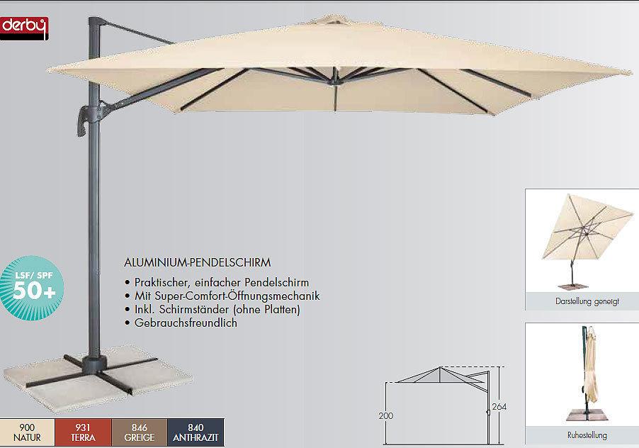 doppler ampelschirm ravenna 3x3m sonnenschirm h lle art. Black Bedroom Furniture Sets. Home Design Ideas