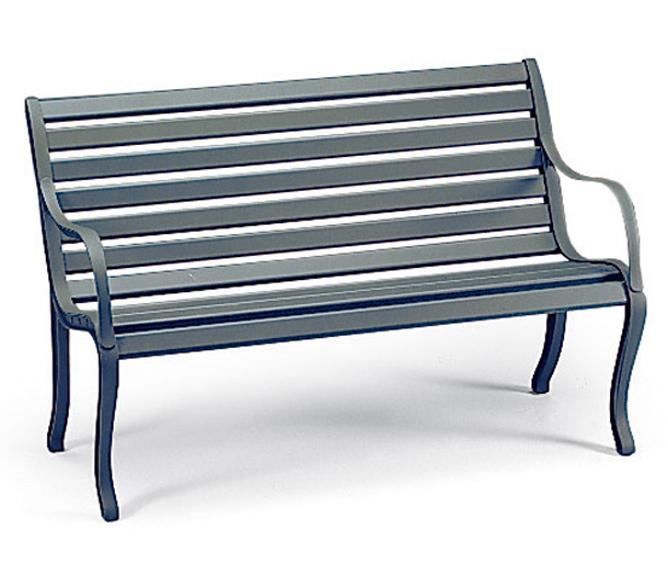 Gartenbank weiß 3 sitzer  Fast Design 3-Sitze Bank Oasi Gartenbank Alu grau-met- Art Jardin