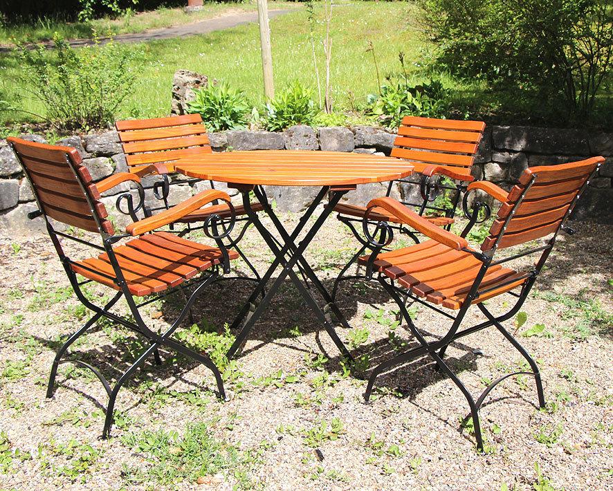 awo gartenm bel set lord 5tlg sessel tisch 90 rund art jardin. Black Bedroom Furniture Sets. Home Design Ideas