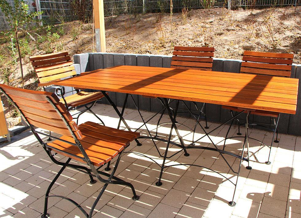 Gartenmöbel set mit bank  AWO Gartenmöbel Set Lord 4tlg Sessel Bank Tisch 160x80- ArtJardin