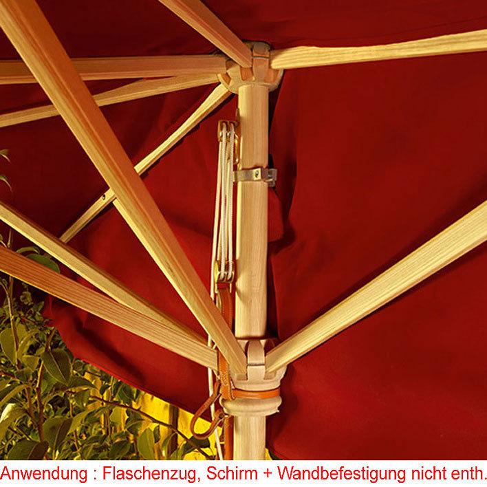Weishäupl Sonnenschirm.Weishäupl Flaschenzug Für Halbschirm 150x300cm Wand Sonnenschirm Mit Mast 53mm Zubehör Ohne Schirm