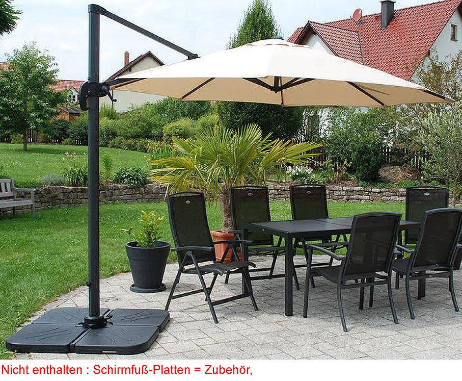 zangenberg ampelschirm monaco d3 0 sonnenschirm beige art. Black Bedroom Furniture Sets. Home Design Ideas