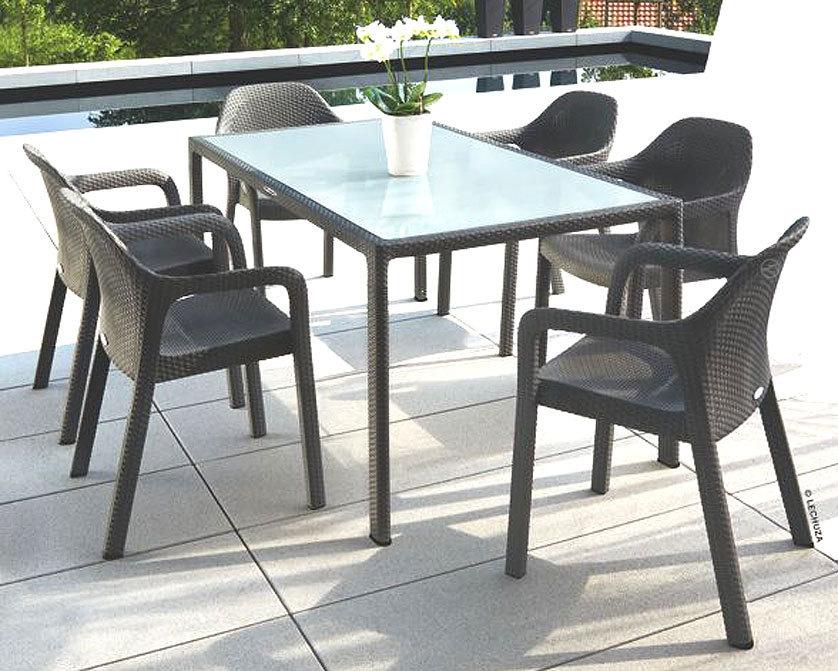 lechuza design stuhl cottage granit wei stapelsessel art jardin. Black Bedroom Furniture Sets. Home Design Ideas