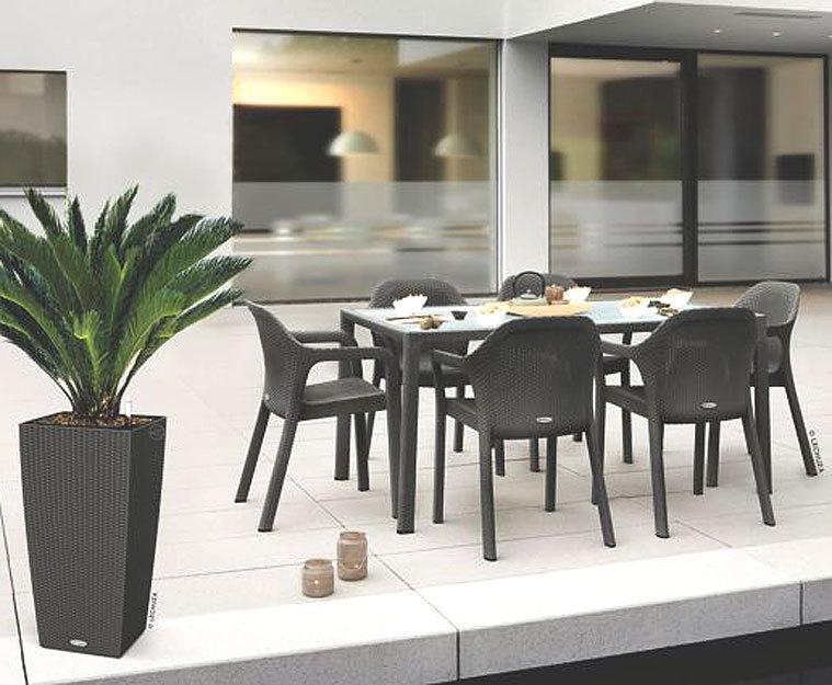 lechuza design essgruppe 7er set cottage + glasplatte- art jardin, Esstisch ideennn