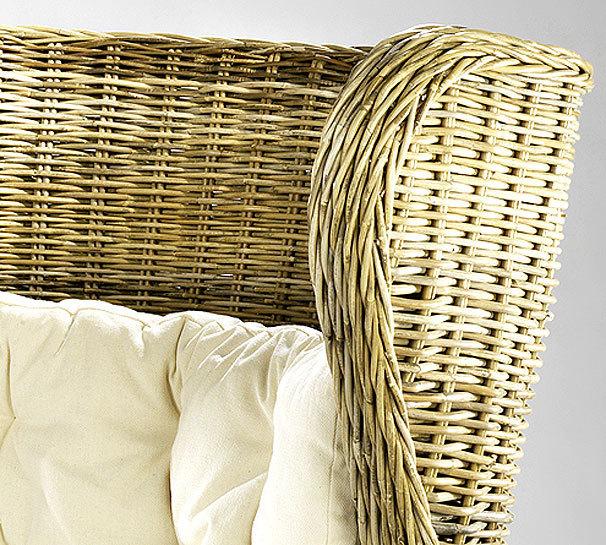 Home Ohren Sessel King Chair 20084-23 Rattan + Kissen- Art Jardin