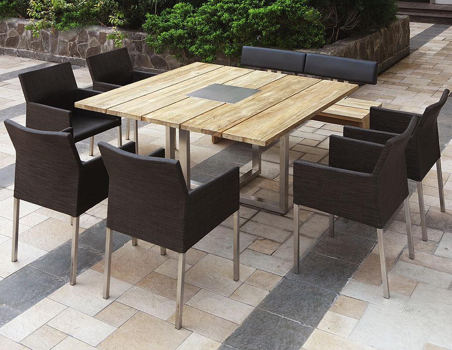 Gartenmobel Gebraucht In Hannover :  7410 Edelstahl Tisch + greenline recyceltes Teakholz Gartentisch