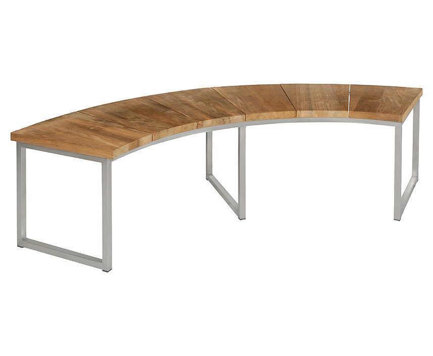 zebra bank onyx rund 171 oh lehne 7227 teak edelstahl. Black Bedroom Furniture Sets. Home Design Ideas
