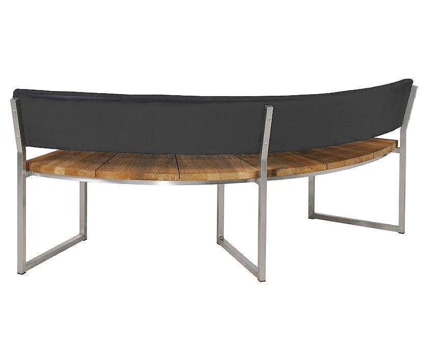 zebra bank onyx rund 171cm lehne 7248 teak edelstahl artjardin. Black Bedroom Furniture Sets. Home Design Ideas