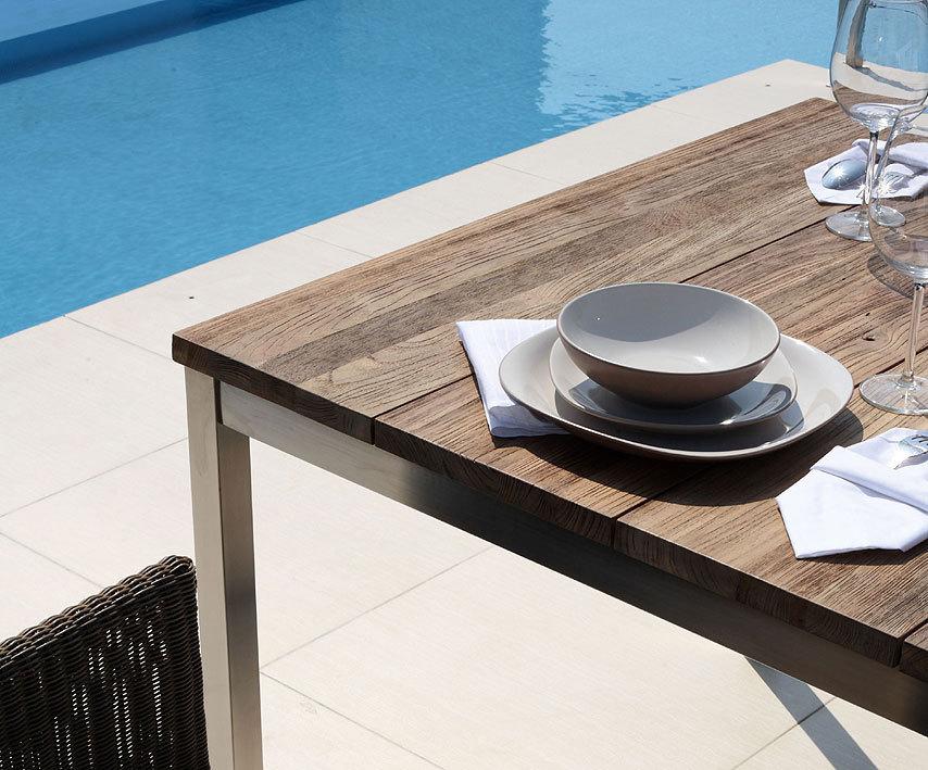 zebra tisch naxos 160x90cm 7209 / 7261 design esstisch edelstahl +, Esszimmer dekoo