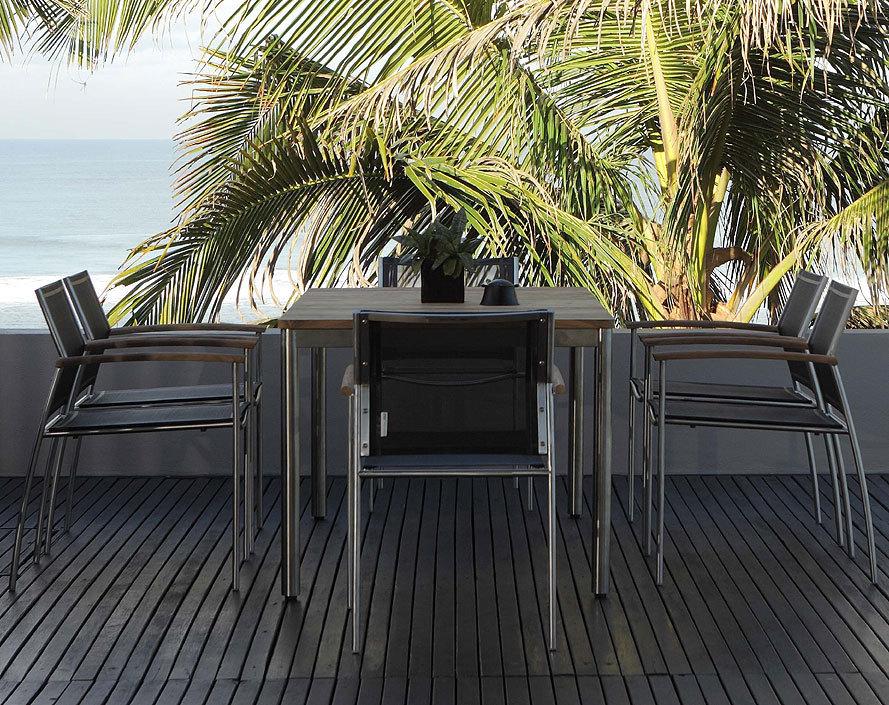 Zebra tisch naxos 160x90cm 7209 7261 design esstisch for Designer esstisch edelstahl