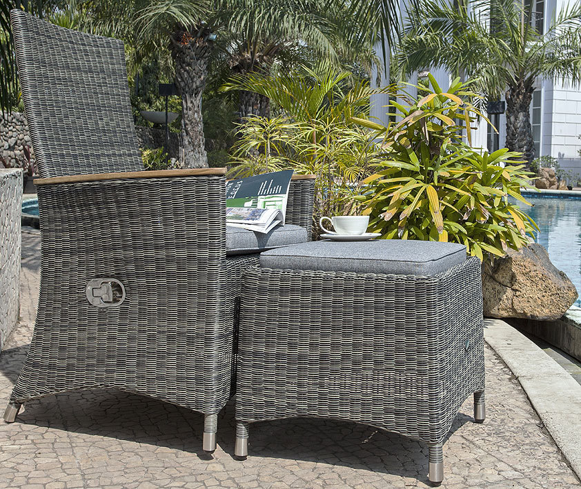 zebra relax sessel status i2fb polyrattan gartenm bel art jardin. Black Bedroom Furniture Sets. Home Design Ideas