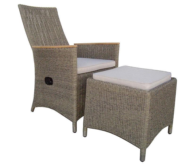 zebra hocker status loomus alu polyrattan gartenm bel artjardin. Black Bedroom Furniture Sets. Home Design Ideas