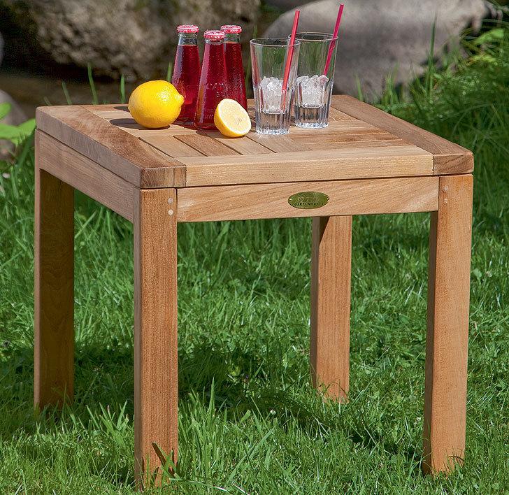 sonnenpartner teak beistelltisch squareside 80060225 art jardin. Black Bedroom Furniture Sets. Home Design Ideas