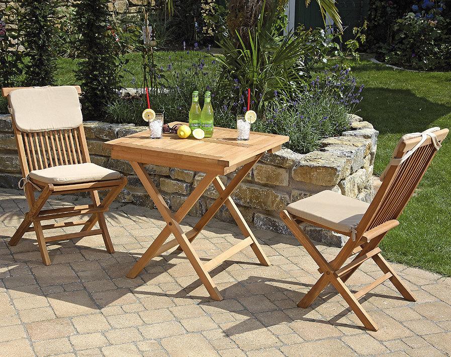 sunnysmart balkonset 3tlg bristol teakholz klappm bel art jardin. Black Bedroom Furniture Sets. Home Design Ideas
