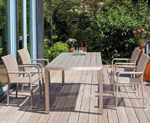 Gartenmobel Auflagen Outlet : SunnySmart 5tlg Alu Esstisch Garnitur Moreno + Campus