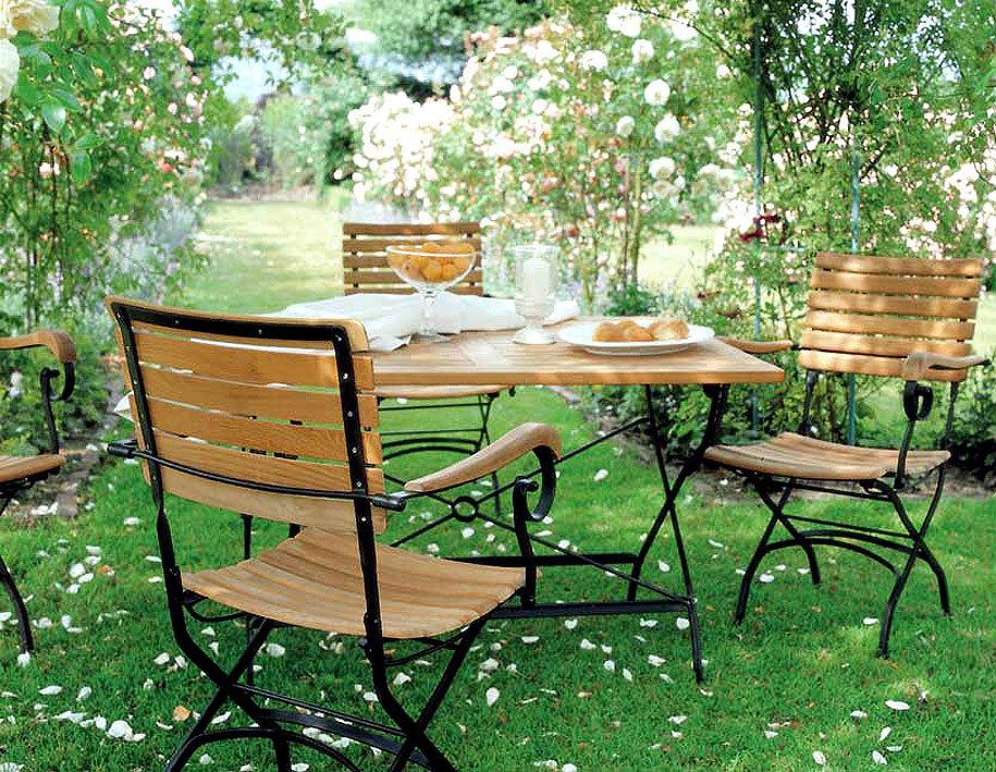 zebra 5tlg set tisch 120x80cm 4 klappsessel florence. Black Bedroom Furniture Sets. Home Design Ideas