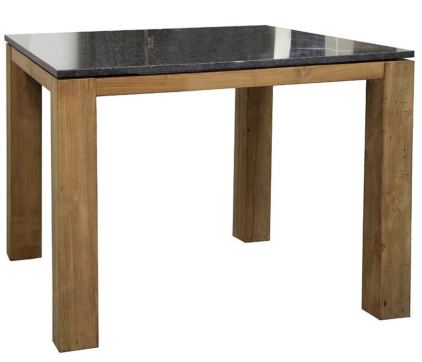 Queen´s Garden Universaltisch 95x95 Old Teak + Granit- Art Jardin
