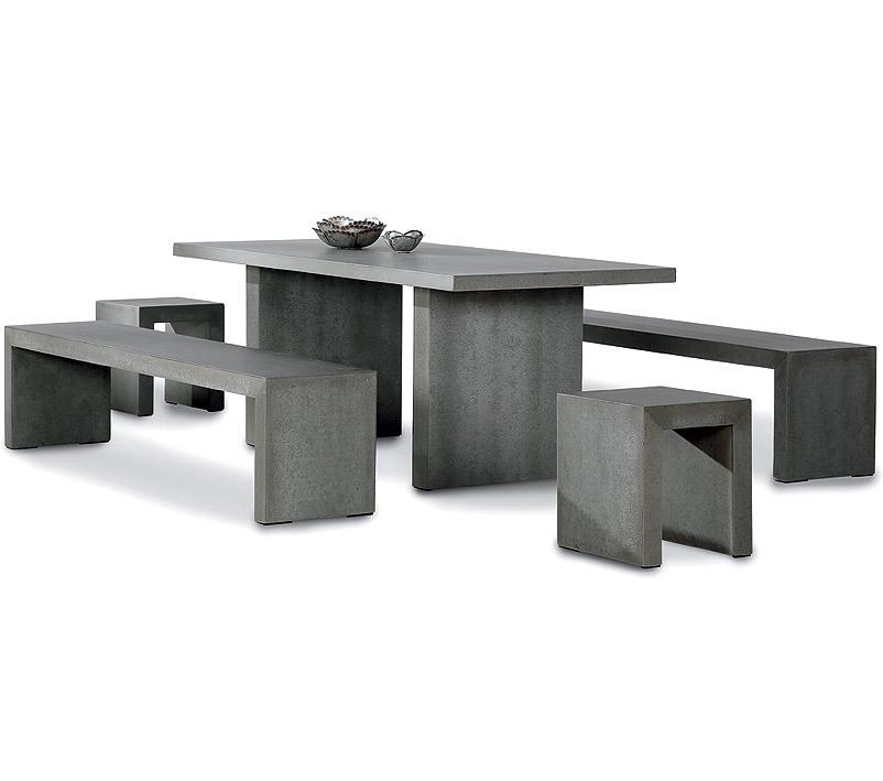 best 5tlg tischgruppe rockall 71150054 glasfaser beton