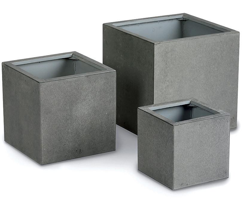 BEST Pflanzkübel 3er Set Rockall 72630054 Fibre Beton- Art Jardin