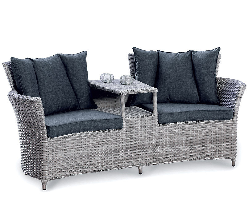 BEST Duo Lounge Sessel Barcelona Alu Polyrattan Sofa ...