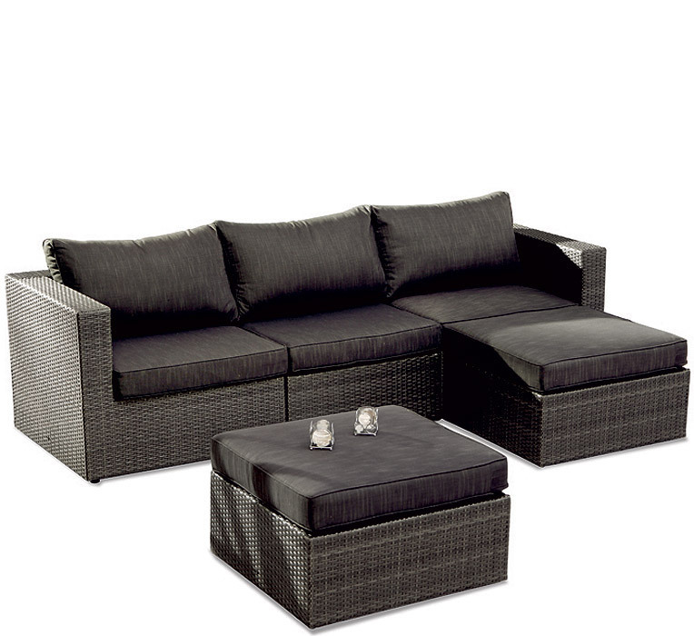 best lounge sessel aruba polyrattan anthrazit 48915250 artjardin. Black Bedroom Furniture Sets. Home Design Ideas
