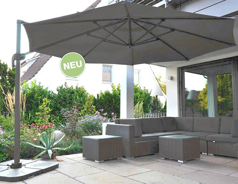 zangenberg ampelschirm monaco d3 0 sonnenschirm taupe art jardin. Black Bedroom Furniture Sets. Home Design Ideas