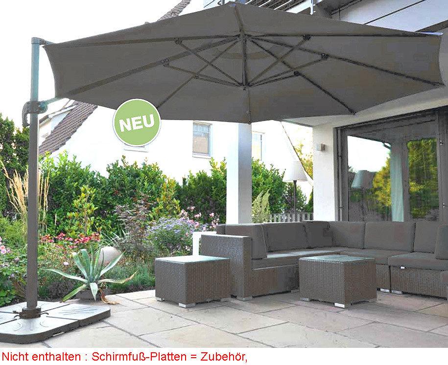 zangenberg ampelschirm monaco d3 5 sonnenschirm taupe art jardin. Black Bedroom Furniture Sets. Home Design Ideas