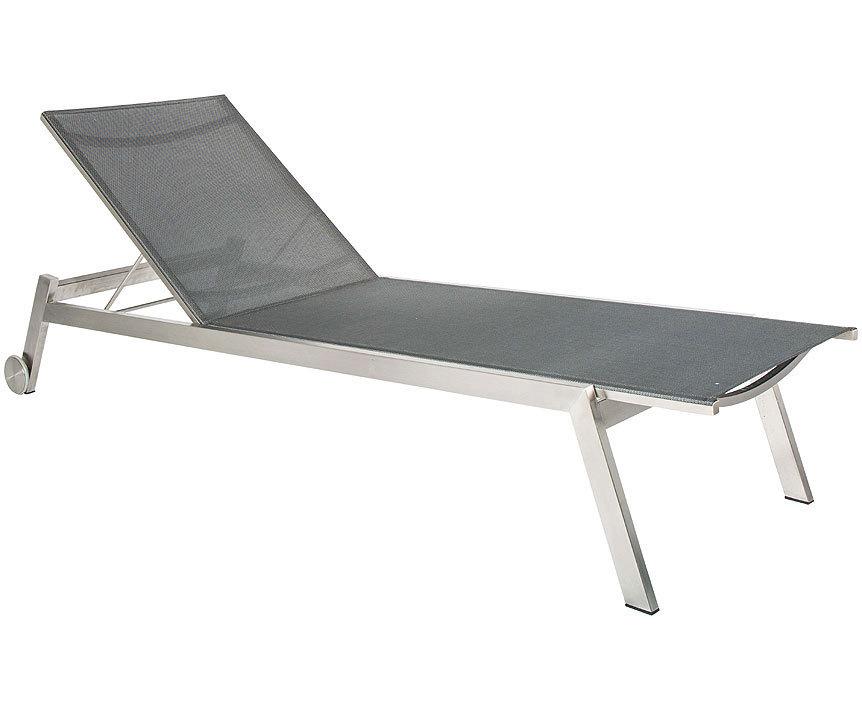 stern edelstahl rollenliege allround 417186 tex taupe art jardin. Black Bedroom Furniture Sets. Home Design Ideas