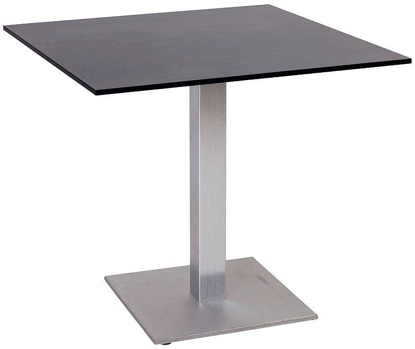 Stern Bistro Tisch 80x80cm Alu Säulenfuß Esstisch 439560 + HPL Silverstar  Tischplatte in 3 Dessins