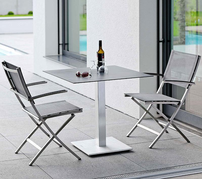 stern 3tlg bistro set carmel tisch 80x80 silverstar art jardin. Black Bedroom Furniture Sets. Home Design Ideas